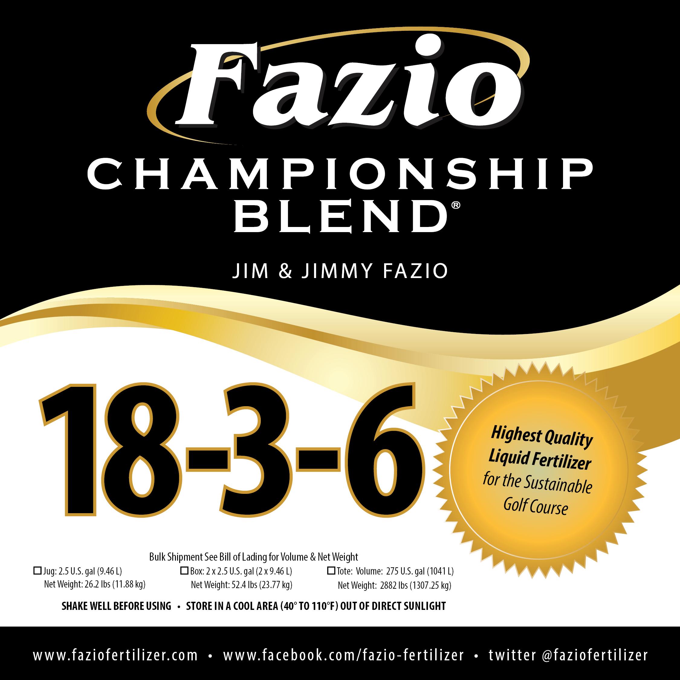 Fazio Championship Blend 18-3-6