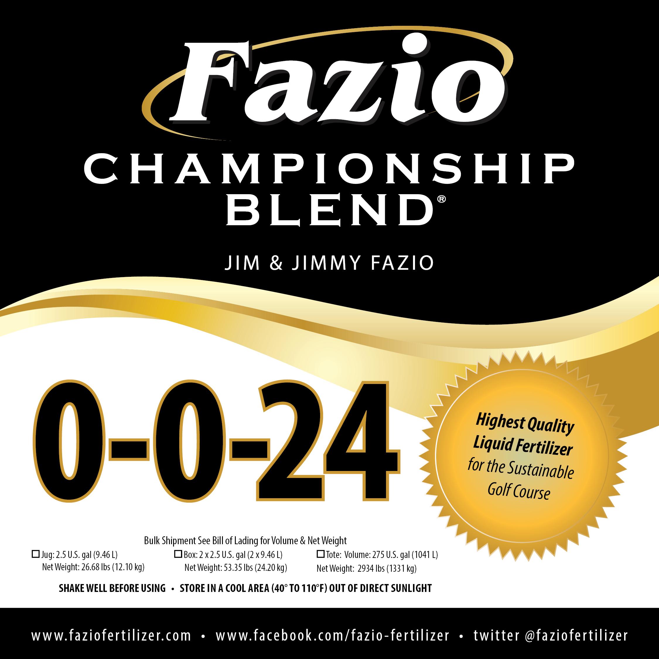 Fazio Championship Blend 0-0-24