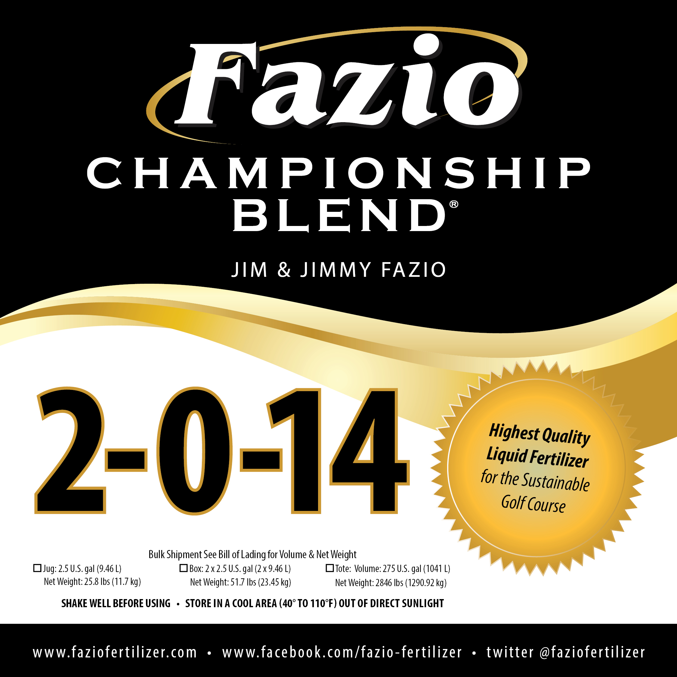 Fazio Championship Blend 2-0-14