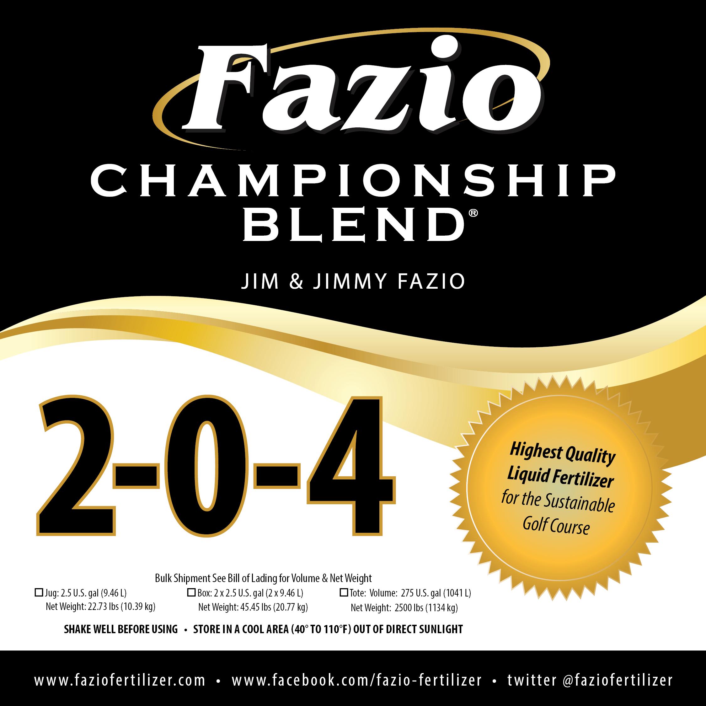 Fazio Championship Blend 2-0-4