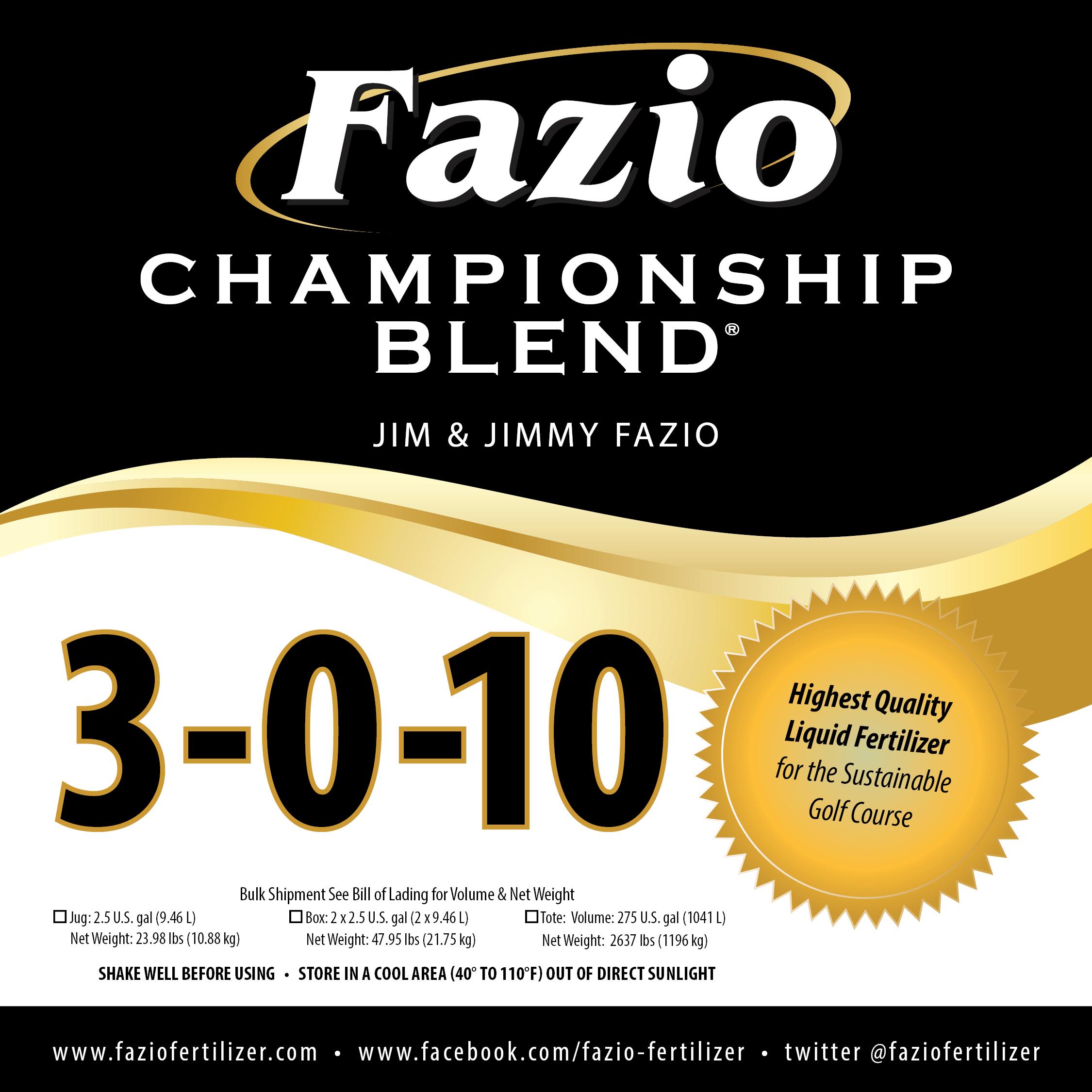 Fazio Championship Blend 3-0-10