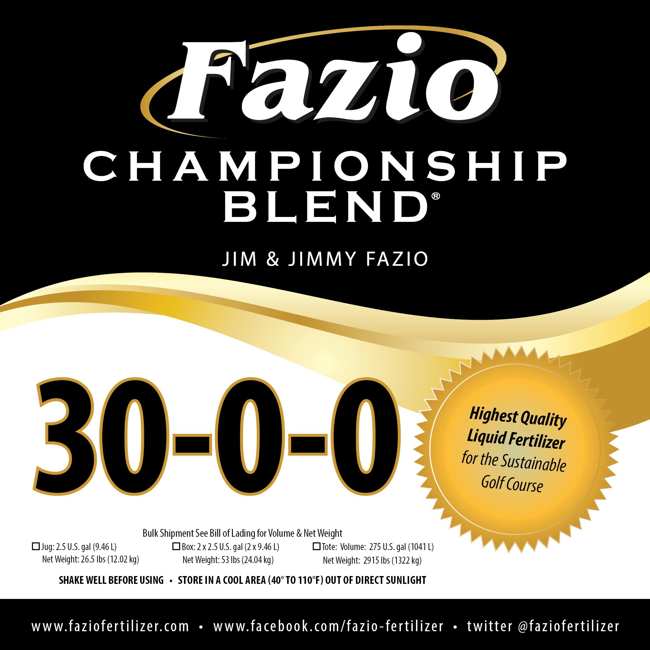 Fazio Championship Blend 30-0-0