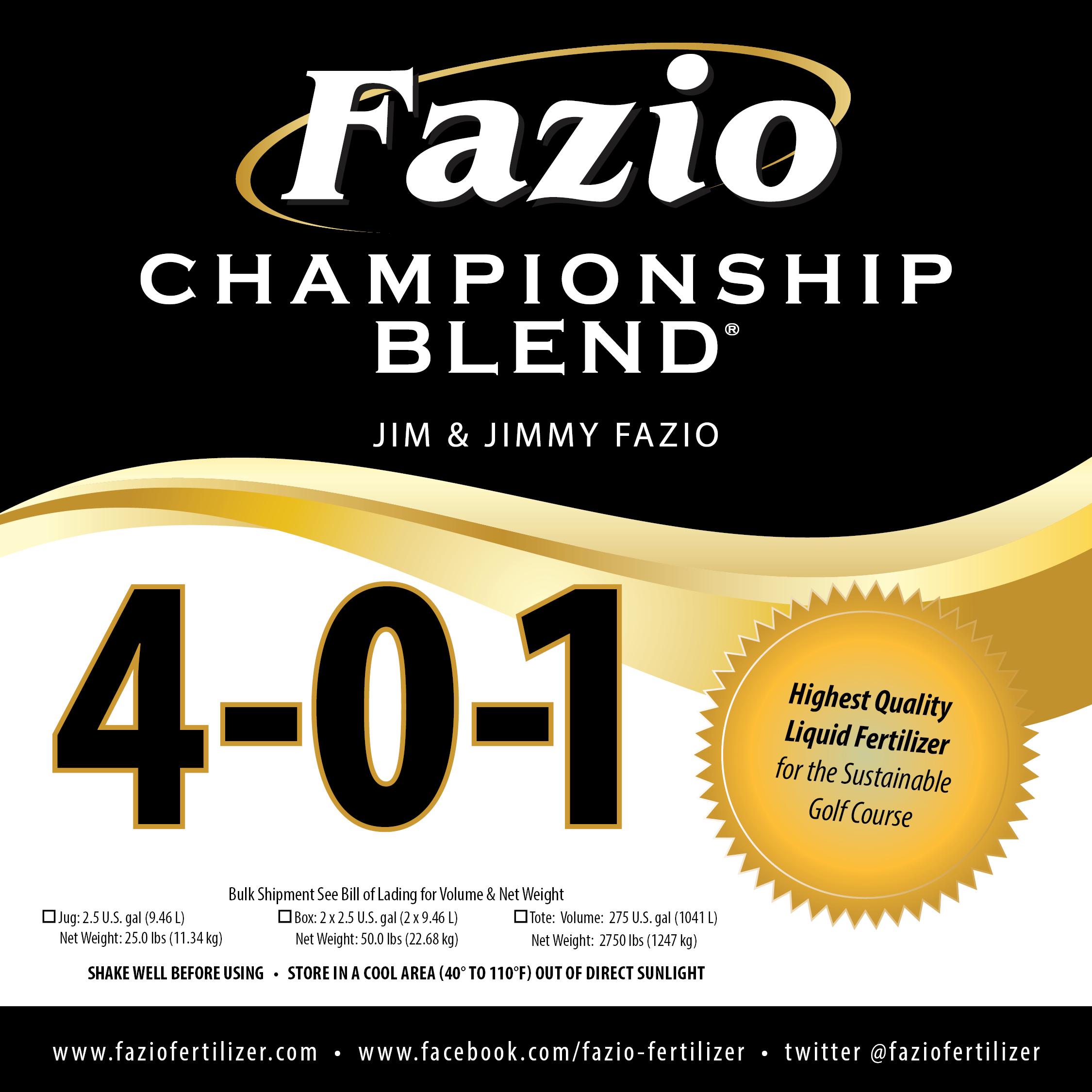 Fazio Championship Blend 4-0-1