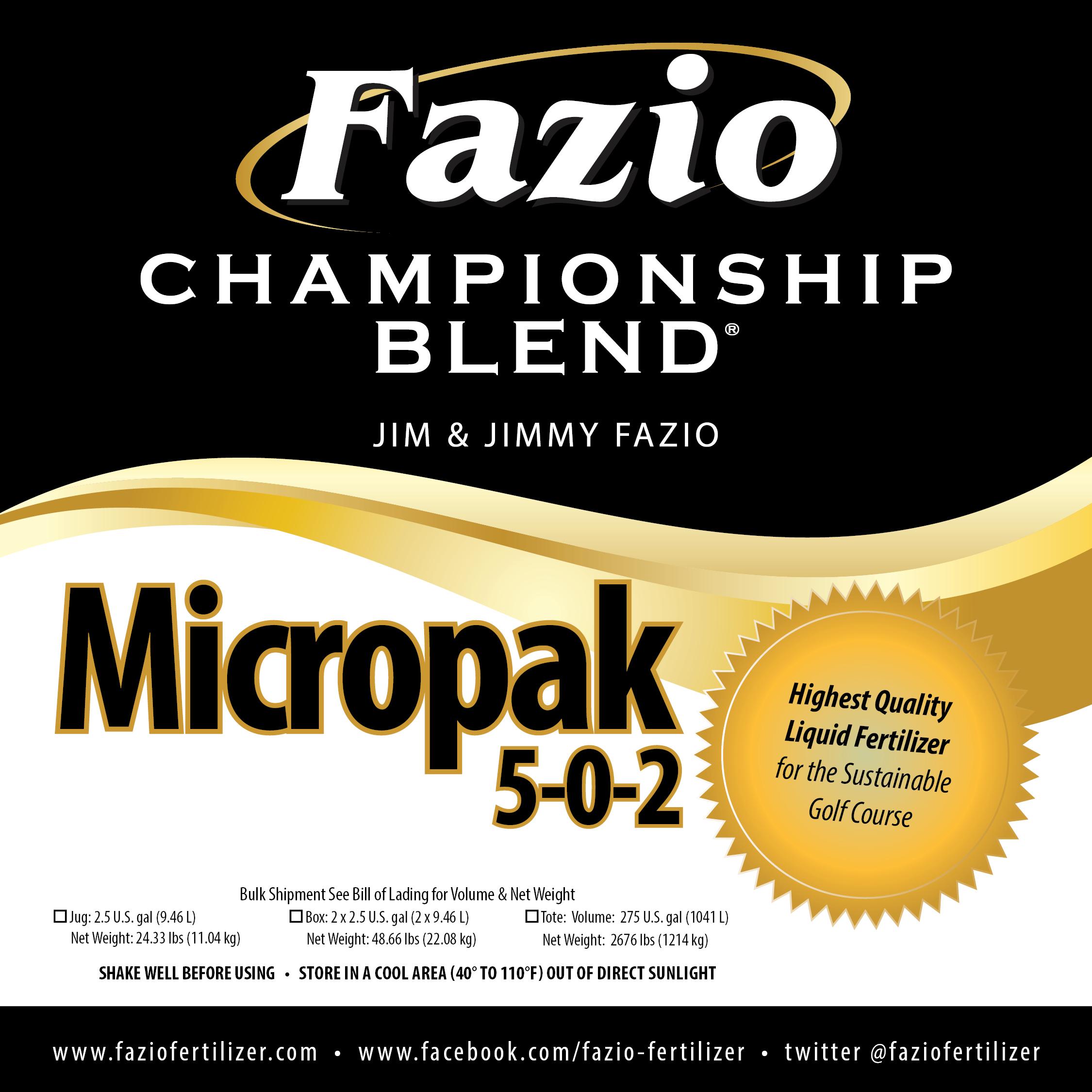 Fazio Championship Blend Micropak 5-0-2